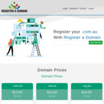 AU Domain Name for $13.50/Year Includes 1 email account (1-5 Years Registration) @ Register A Domain