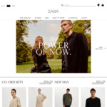 $50 off with $200 Spend, Free Delivery @ SABA