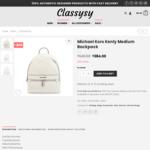 Michael Kors Kenly Medium Backpack $384 (40% off) Delivered @ Classysy