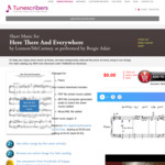 [Free] Piano Sheet Music PDF - Here There and Everywhere by Lennon/McCartney @ Tunescribers