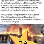 [QLD, NSW, SA, VIC] Carl's Jr. Famous Star with Cheese Burger $1 on National Burger Day (Friday 28/5) @ My Carl's App