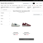 New Balance 247S or Arishi Sneakers $49/Pair + Delivery ($0 with $50 Spend/ C&C) @ David Jones