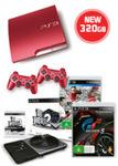 320GB Limited Edition Scarlet Red PlayStation 3 + 2 Games + DJ Hero 2 Bundle for $387