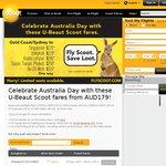 Scoot - Sydney/Gold Coast to Singapore $179, Sydney/Gold Coast to Bangkok $229