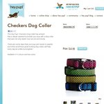 Hey Pup! Checkers Dog Collars $12.95 Including Delivery AUS WIDE - Normally $19.95