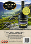 50% off Voucher for Feeney's Irish Cream or Creme Brûlée 700ml at BWS (approx $26 RRP)