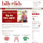 Up to 70% OFF Mid-Year SALE @ Billy Lids. Baby, Toddler & Kids Clothing, Toys, Gifts. from $3
