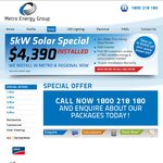 5kw Solar Power System $4390 Installed All over NSW - Metro Energy Group