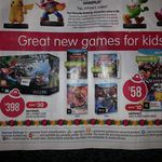 Smash Bros Wii U $58. Bayonetta 1 and 2 $64. Amiibo $15 @ Big W