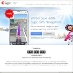 Sygic Offline GPS Map Android/iOS 60% off Australia Map $46.64, World Map $70.55