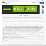 eBay Click & Collect at Woolworths/Big W, Spend $100 Get $50 Voucher /Spend $200 Get $100 Voucher (Excludes SA/WA)