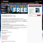 Buy 3 Selected Yokohama Tyres & Get 1 Free
