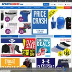 FREE Express Shipping No Minimum Spend (Save $27), Shorts from $3, T-Shirts from $3.50 @ Sports Direct
