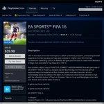 FIFA 16 PS4 - PSN Store - $39.98