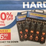 4 Pack Ratchet Tie Down at Masters $6.99 (Save $3)