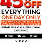 Roger David - 45% off Everything (in Store and Online) - Free Shipping over $75