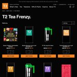 T2 Click Frenzy - 250g Everyday Tin $20, Ice Tea Jugs $15, Storage Tins $5 & Free Delivery for Orders $60+