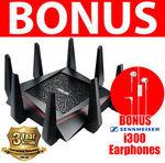 ASUS RT-AC5300 Tri-Band Router + Sennheiser I300 Earphones $392.00 Delivered on Wireless1 eBay