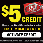 Free $5 Credit at SuperCheap Auto (Club Plus Email Subscribed Members)