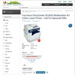 Fuji Xerox DocuCentre SC2020 Multifunction A3 Colour Laser Printer $2222 @ Australian Toner Masters
