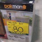 Pakman Parcel Box Sand $80, Charcoal $100 (Was $199) Clearance @ Bunnings Warehouse Rockdale NSW