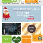 Early Bird Christmas Sale - 20% off All Orders over $100 @ Australian Organic Products