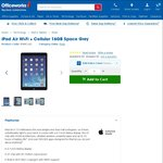 iPad Air Wi-Fi + Cellular 16GB Space Grey for $449 at Officeworks