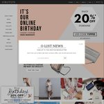 Oroton 20% off Store Wide Online & Instore Today Only (Excludes Outlet)