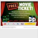 Claim Free Movie Ticket with Any 2 Nature's Own or Cenovis Products (eg. 2-for-$10.08*/$11.98) @ Chemist Warehouse & My Chemist