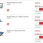 Microsoft Surface Pro 3 64GB i3 $442, Add Type Cover $57 + GST Delivered @ Staples (Via Phone Only)