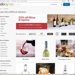eBay AU Liquor Sale - 20% off Wine & Spirits from Selected Stores
