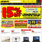 15% off Lenovo, Acer, Asus, Dell & HP Computers* until Monday 20th March @ JB Hi-Fi (Lot of Exclusions)