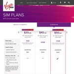 Virgin Mobile 12 Mth SIM Only | $50 Mth / $45 Mth Velocity Members | 17GB Data | Unlimited Calls & SMS | $300 Int | $50 Cashback