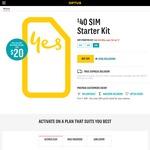 Optus $40 Prepaid Starter Kit for $20