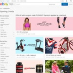 20% off @ Multiple eBay Fitness/Sport & Fashion Stores - City Beach, Boohoo, Jeanswest, Lorna, Styletread2014, Onsport and More
