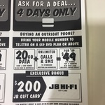 Telstra Business $49/Month Plan (12 Months): 20GB Data + $200 JB Hi-Fi Gift Card @ JB Hi-Fi (ABN Required)