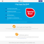 365 Day Prepaid Super Pack $249 (Unlimited Calls, SMS, MMS, 80GB Data) @ ALDImobile