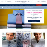 Charles Tyrwhitt Shirts - 3 Shirts for $99 or $39.95 Each, Free Delivery for Orders $99 or over
