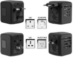 Universal Travel Adapter All in one Worldwide Charger Wall Plug with 4 USB Ports  - $9.99 USD (~ $12.73 AUD) Delivered @ DD4