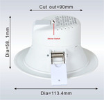 LED Down Light with Temperature Colour Change (3000K/4000K/5000K) $10.50 (Was $21) + $10 Shipping @ ECO Light LED