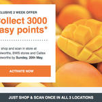 3000pts ($15) for Using Woolworths Rewards Card Once at Woolworths, BWS & Caltex Woolworths Each (ie. 3 Shops, No Min Spend)