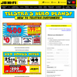 Sign Up for Telstra Broadband ($99/mth, No Lock-In, Modem Shipping +$9.95) & Get First Month Free @ JB HI-FI (In Store Only)