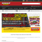 $5 Discount For PowerPlay Tickets 2nd June for Members @ Supercheap Auto