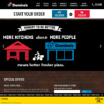 3 Pizzas (Value or Traditional) Delivered from $30 @ Domino's