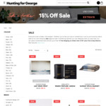 Extra 15% off Already Reduced Sale Items, Homewares, Sunnylife, Bedding, Artwork, Candles @ Hunting for George