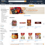 25% off First Order of Select Pantry Food & Drinks + Delivery (Free with $49+ Spend or Prime) @ Amazon AU