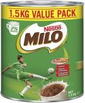 MILO Choc-Malt Powder Malted Drinks, 1.5kg $9.90 (after 25%) + Delivery (Free with Prime/ $49 Spend) @ Amazon AU