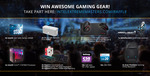 Win 1 of 41 Prizes (Intel i7-8700K/ $300 NEEDforSEAT Voucher/ Intel 540s Series 240GB SSD/ HyperX Peripherals/ etc) from ESL