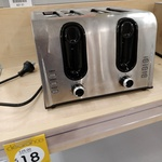 [QLD] 4 Slice Stainless Steel Toaster $18 (Usually $25) @ Kmart (KippaRing)