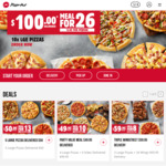 5 Large Pizzas Delivered for $50 (15% Holiday Surcharge Applies) @ Pizza Hut